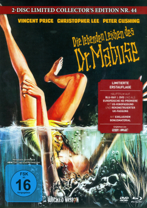 Die lebenden Leichen des Dr. Mabuse (1970) (Cover C, Limited Collector's Edition, Mediabook, Uncut, Blu-ray + DVD)