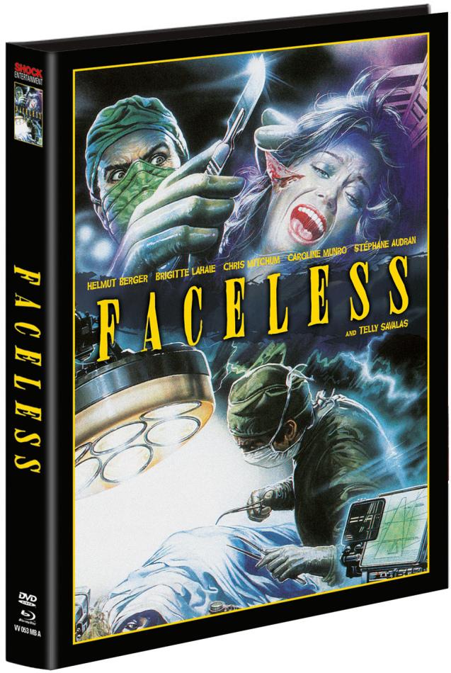 Faceless (1987) (Wattiert, Limited Edition, Mediabook, Uncut, Blu-ray + DVD)