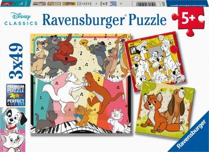 Ravensburger Kinderpuzzle 05155 - Tierisch gut drauf - 3x49 Teile Disney Puzzle für Kinder ab 5 Jahren