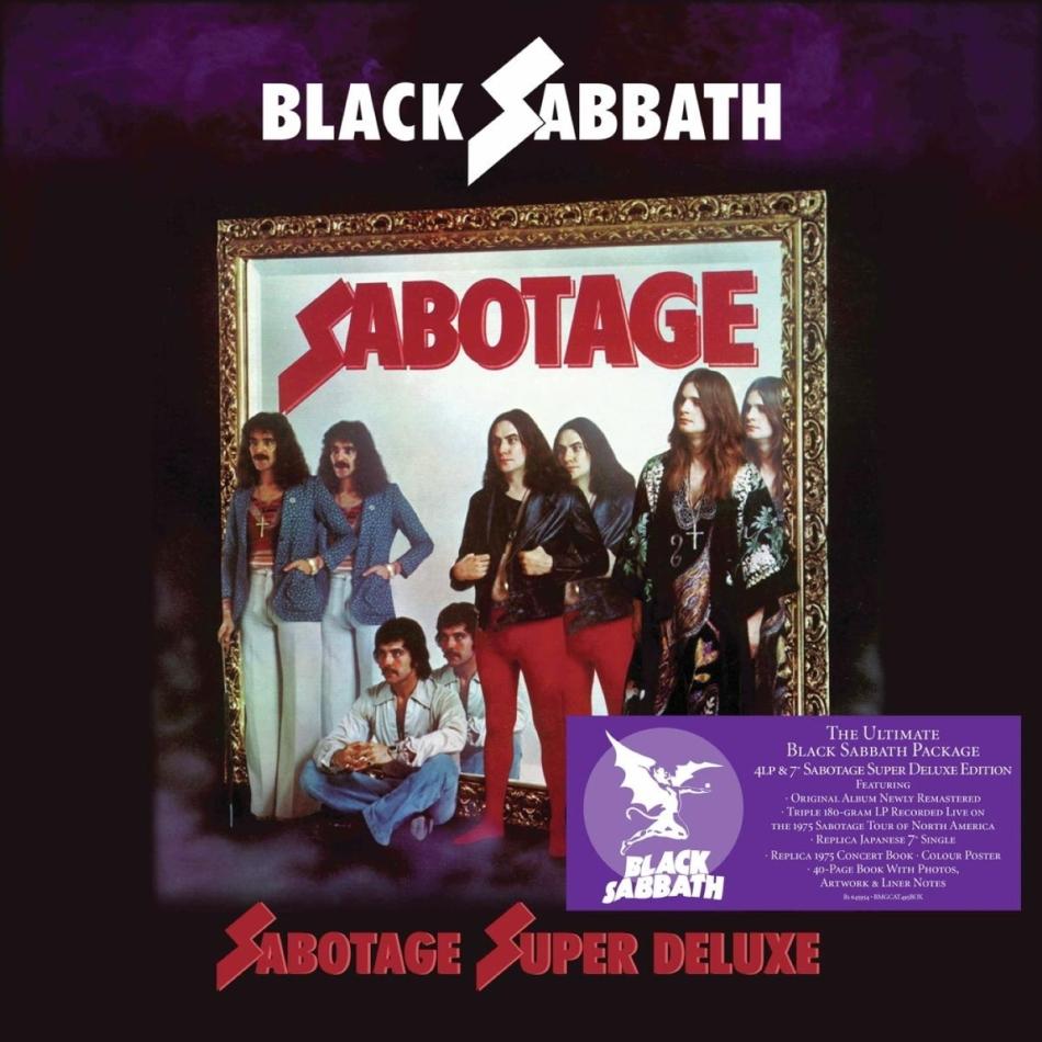 "Black Sabbath - Sabotage (Super Deluxe Boxset, 2021 Reissue, 4 LPs + 7"" Single)"