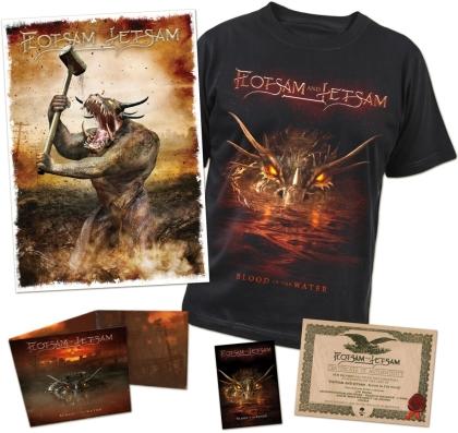 Flotsam & Jetsam - Blood In The Water (Limited Boxset, + T-Shirt L)