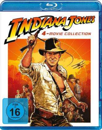 Indiana Jones - 4-Movie Collection (Neuauflage, 4 Blu-rays)