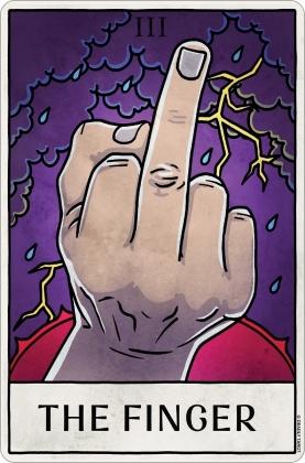 Deadly Tarot Life - The Finger Small Tin Sign