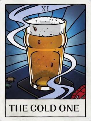 Deadly Tarot Life - The Cold One Tin Sign