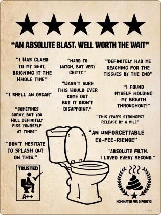 Toilet Humour Tin Sign