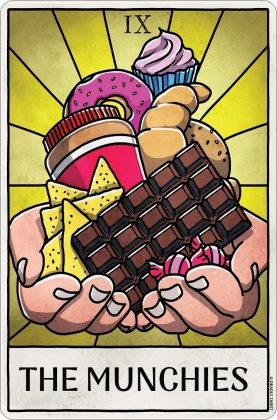 Deadly Tarot Life - The Munchies Small Tin Sign