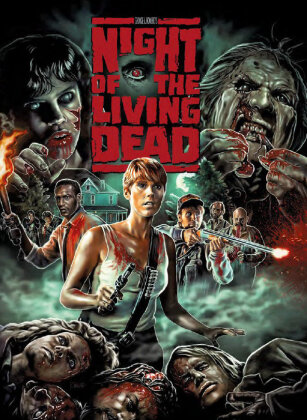 Night of the living dead (1990) (Cover B, Limited Edition, Mediabook, Uncut, Blu-ray + DVD)