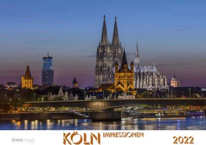 Köln 2022 Bildkalender A2 quer - spiralgebunden