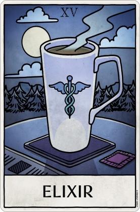 Deadly Tarot Life: Elixir - Small Tin Sign