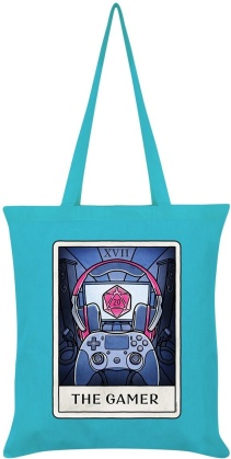 Deadly Tarot Life: The Gamer - Azure Blue Tote Bag