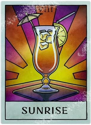 Deadly Tarot Life: Sunrise - Glass Chopping Board