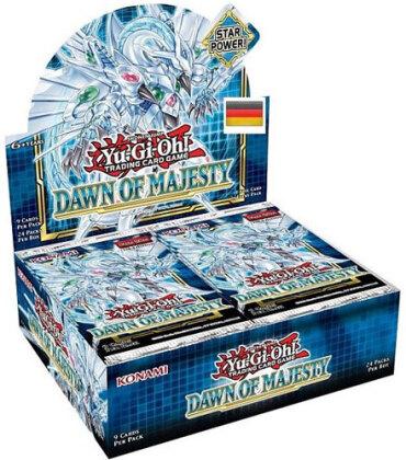 Yu Gi Oh!Booster-D-Dawn of Majesty 24-er<br>Display 24 Pack deutsch