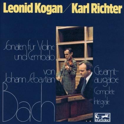 Johann Sebastian Bach (1685-1750), Leonid Kogan & Karl Richter - Violin Sonatas, BWV 1014-1019 (2021 Reissue, Remastered, 2 CDs)
