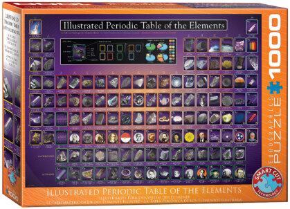 Illustriertes Periodensystem der Elemente - 1000 Teile Puzzle