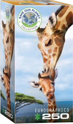 Giraffenmutterkuss - 250 Teile Puzzle