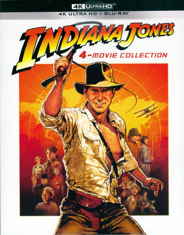Indiana Jones - 4-Movie Collection (Digipack, Édition Limitée, 4 4K Ultra HDs + 5 Blu-ray)