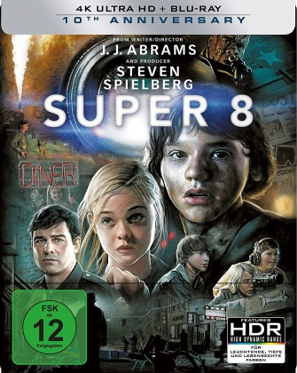 Super 8 (2011) (10th Anniversary Edition, Limited Edition, Steelbook, 4K Ultra HD + Blu-ray)