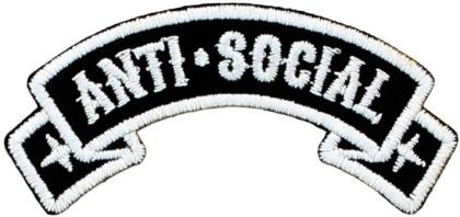 Anti-Social - Iron On Patch