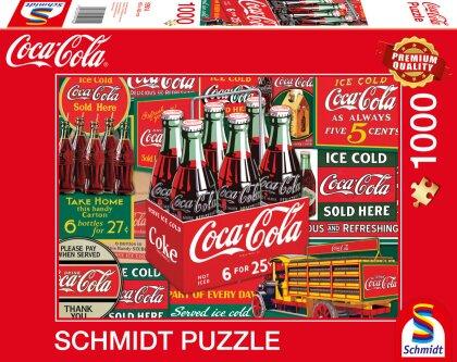 Coca Cola Motiv 2 - 1000 Teile Puzzle