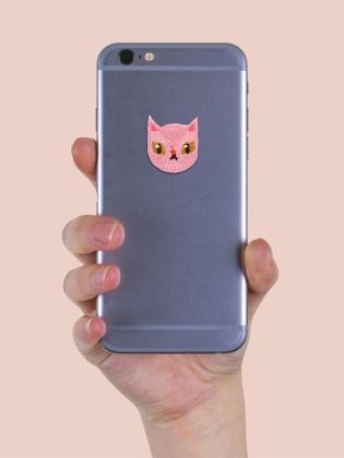 Pink Sphynx Cat - Sticker Patch