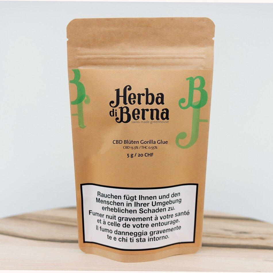 Herba di Berna Gorilla Glue (5g) - Greenhouse (CBD: 13.3% THC: 0.55%)