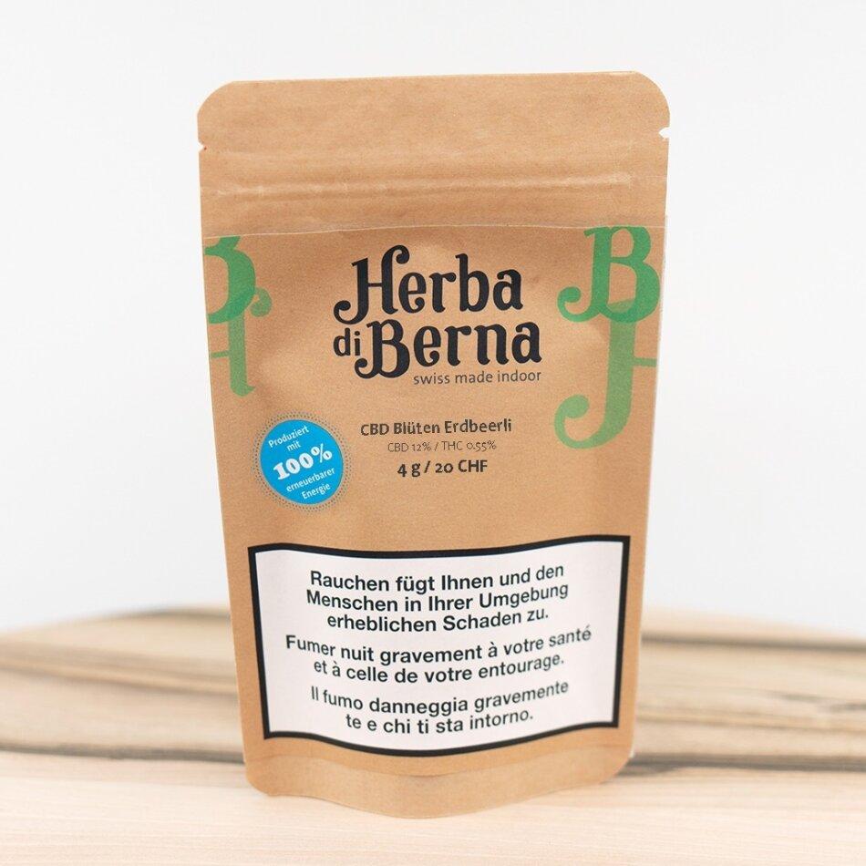 Herba di Berna Erdbeerli (4g) - Indoor (CBD: 17% THC: 0.6%)