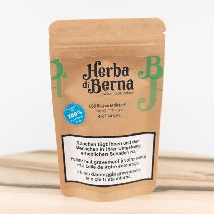 Herba di Berna Erdbeerli (12.5g) - Indoor (CBD: 17% THC: 0.6%)
