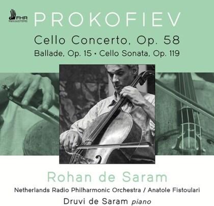 Serge Prokofieff (1891-1953), Anatole Fistoulari, Rohan de Saram & Netherlands Radio Philharmonic Orchestra - Cello Concerto, Op.58