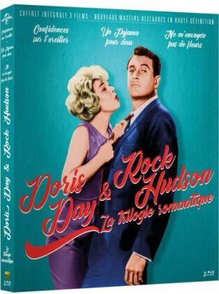 Doris Day & Rock Hudson - La trilogie romantique : Confidences sur l'oreiller / Un pyjama pour deux / Ne m'envoyez pas de fleurs (3 Blu-ray)