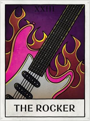 Deadly Tarot Life: The Rocker - Tin Sign