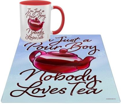 I'm Just a Pour Boy Nobody Loves Tea - Mug & Chopping Board Set