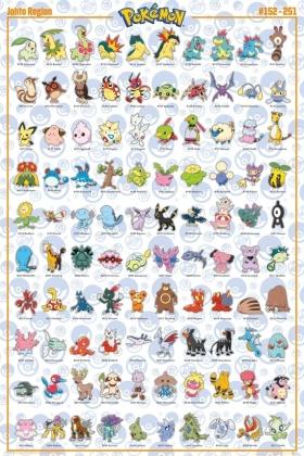 Pokémon: Johto Pokémon - Maxi Poster