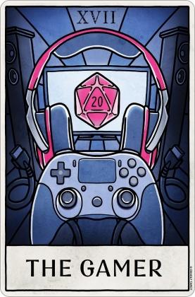 Deadly Tarot Life: The Gamer - Small Tin Sign