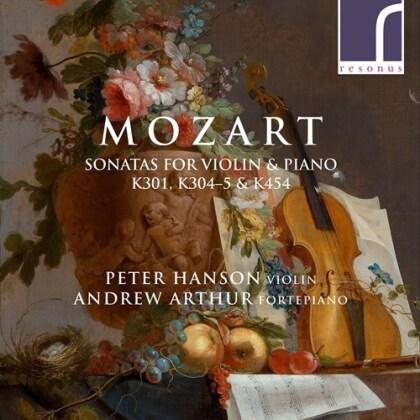 Wolfgang Amadeus Mozart (1756-1791), Peter Hanson & Andrew Arthur - Sonatas For Violin & Piano K301, K304-5, K454