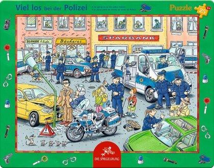 Viel los bei der Polizei - 25 Teile Rahmenpuzzle