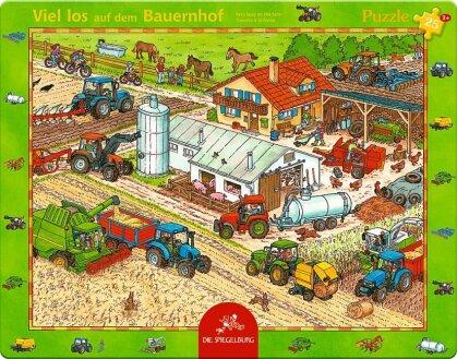 Viel los auf dem Bauernhof - 25 Teile Rahmenpuzzle