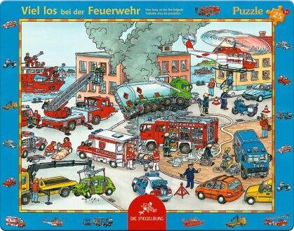 Viel los bei der Feuerwehr - 25 Teile Rahmenpuzzle