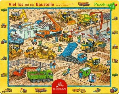 Viel los auf der Baustelle - 25 Teile Rahmenpuzzle
