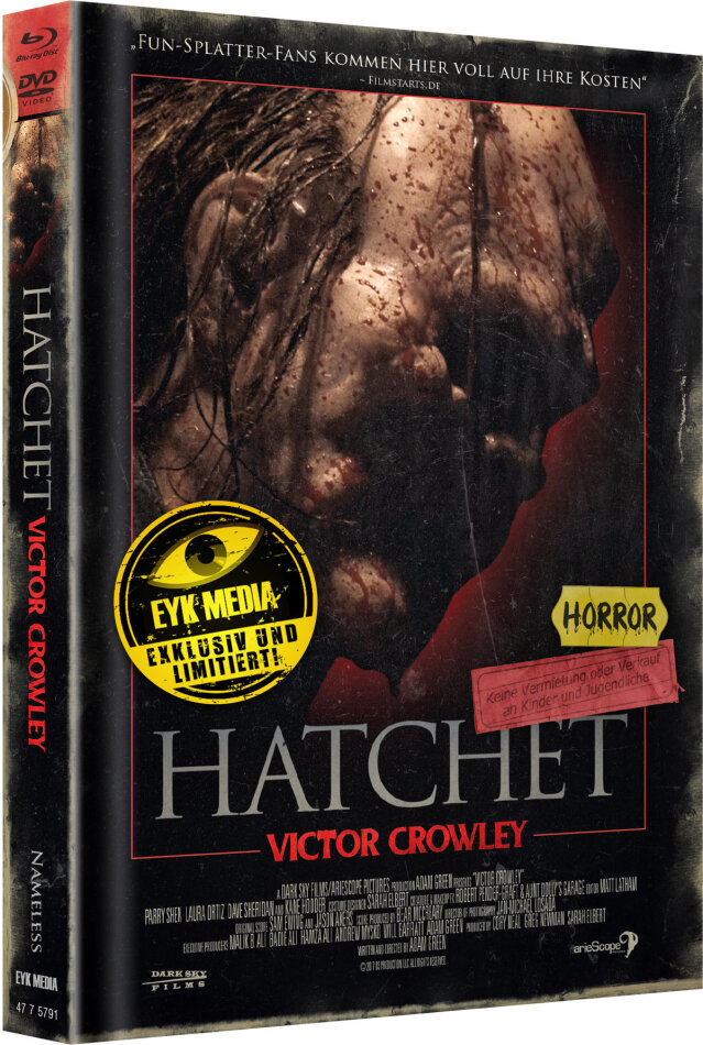 Hatchet 4 - Victor Crowley (2017) (Cover C, Limited Edition, Mediabook, Blu-ray + DVD)