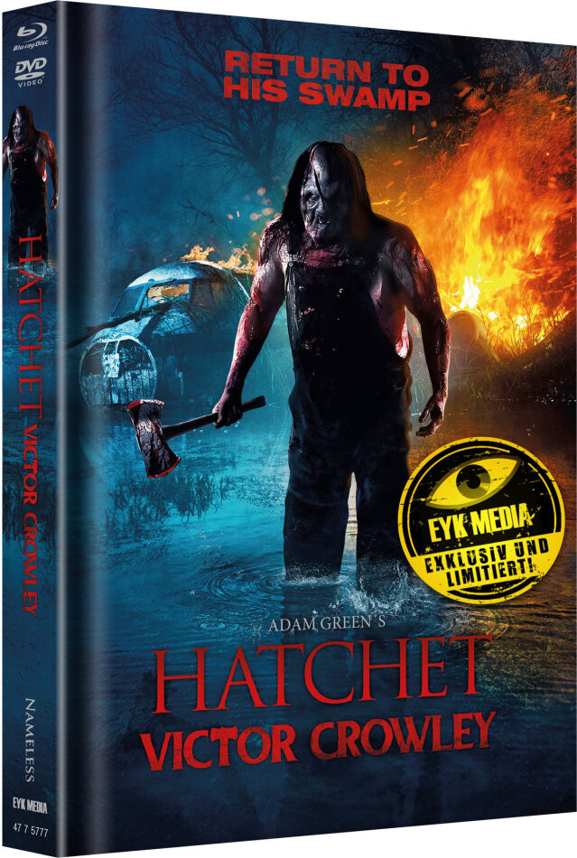 Hatchet 4 - Victor Crowley (2017) (Cover A, Limited Edition, Mediabook, Blu-ray + DVD)