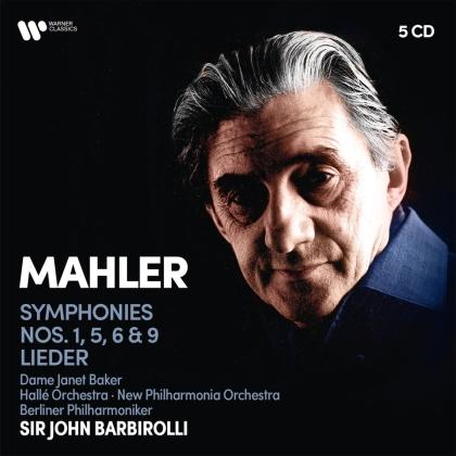 Dame Janet Baker, Gustav Mahler (1860-1911), Sir John Barbirolli, Hallé Orchestra, New Philharmonia Orchestra, … - Symphonies 1, 5, 6 & 9 / Lieder (5 CDs)