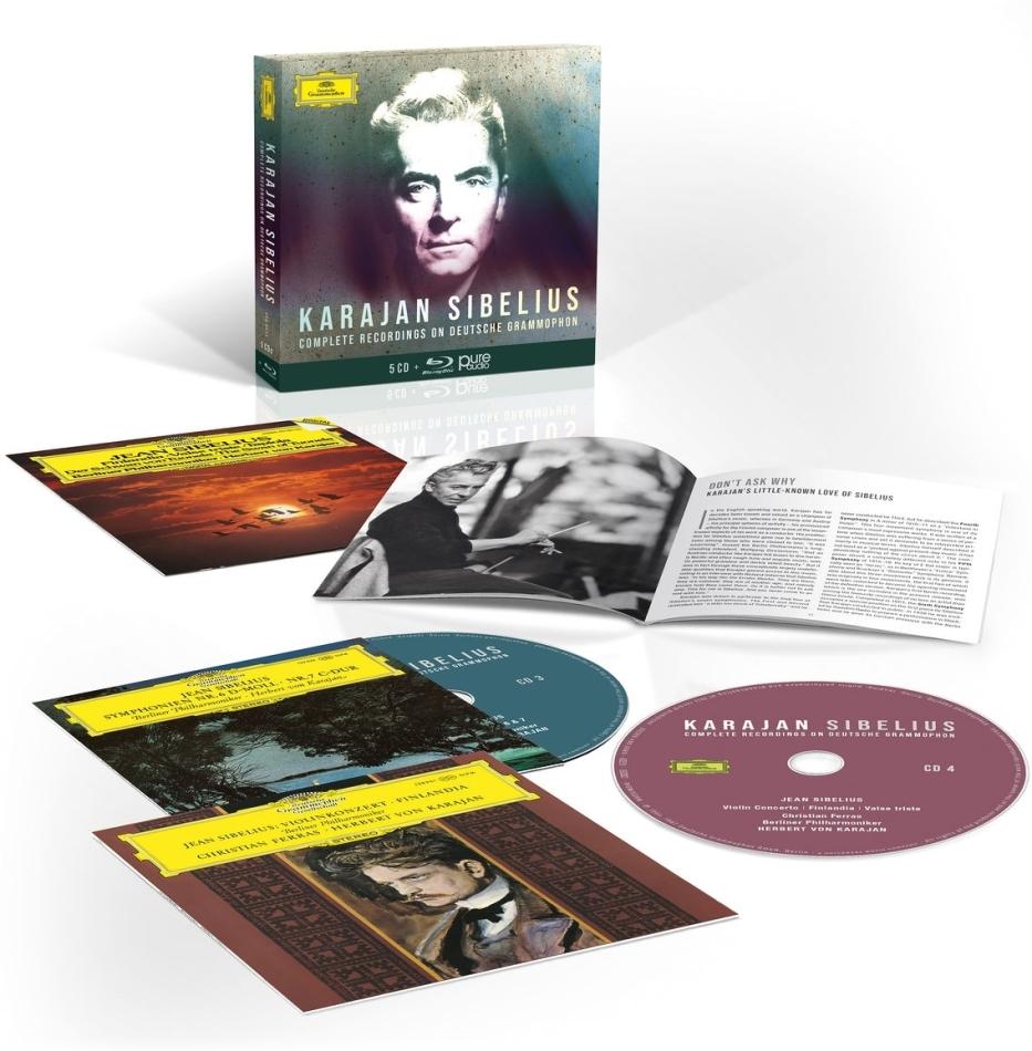 Herbert von Karajan & Jean Sibelius (1865-1957) - Complete Sibelius Recordings On Deutsche Grammophon (5 CDs + Blu-ray)