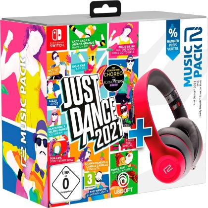 ready2gaming Nintendo Switch Just Dance 2021 & ready2music Rival - pink
