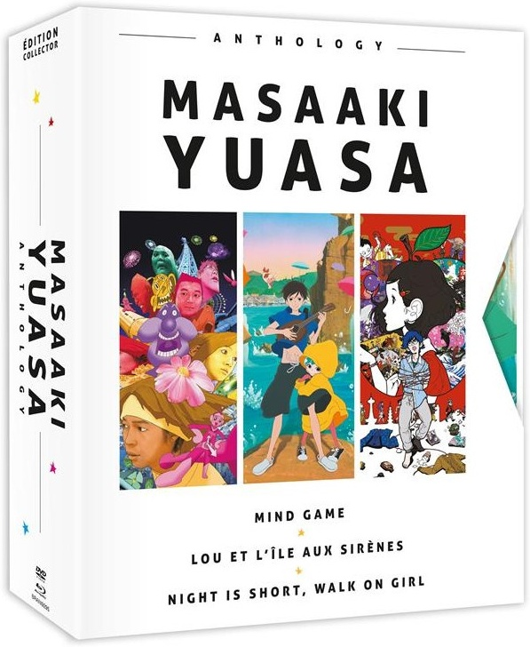 Masaaki Yuasa Anthology - Mind Game / Lou et l'île aux sirènes / Night is short, walk on girl (Collector's Edition, 3 Blu-ray + DVD)