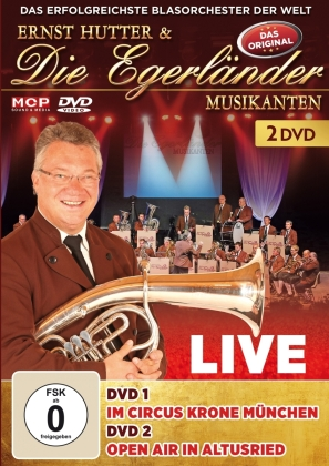 Ernst Hutter & Die Egerländer - Live - Im Circus Krone München & Open Air in Altus (2 DVDs)