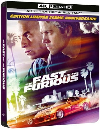 Fast and Furious (2001) (20th Anniversary Limited Edition, Steelbook, 4K Ultra HD + Blu-ray)