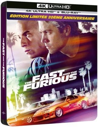 The Fast and the Furious (2001) (Edizione Limitata 20° Anniversario, Steelbook, 4K Ultra HD + Blu-ray)