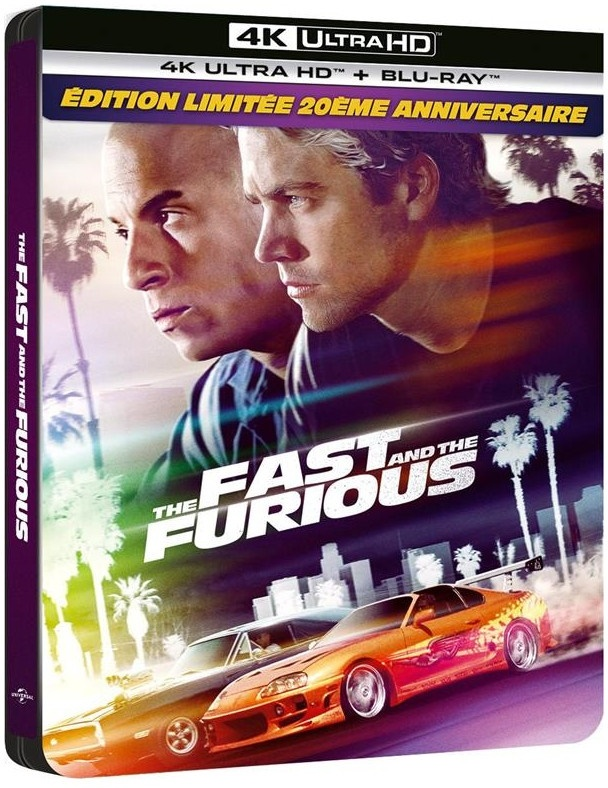 The Fast and the Furious (2001) (20th Anniversary Limited Edition, Steelbook, 4K Ultra HD + Blu-ray)