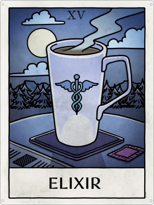 Deadly Tarot Life: Elixir - Tin Sign