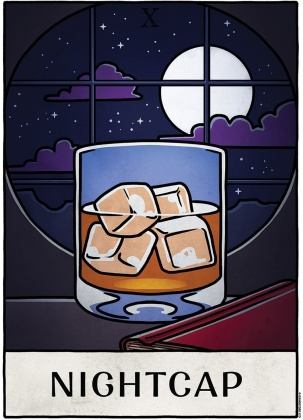 Deadly Tarot Life: Nightcap - Mini Poster